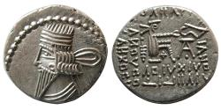 Ancient Coins - KINGS of PARTHIA. Pakoros I. Circa AD. 78-120. AR Drachm