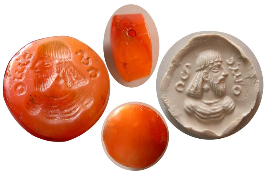 Ancient Coins - SASANIAN EMPIRE.  Ca. 2nd-3rd. Century AD. Stamp Seal. Rare !