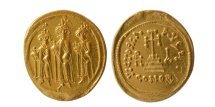 Ancient Coins - BYZANTINE EMPIRE. Heraclius and colleagues, 610-641 AD. AV Solidus. FDC.