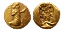Ancient Coins - ACHAEMENID EMPIRE. temp. Artaxerxes II to Dareios III. Circa 375-336 BC. AV Daric. Lovely style.
