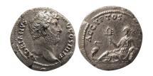 "Ancient Coins - ROMAN EMPIRE. Hadrian. 117-138 AD. AR Denarius. Travel Series ""AEGPTOS"". Rare."
