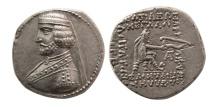 KINGS OF PARTHIA. Phraates III. 70/69-58/7 BC. AR Drachm. Rare.