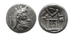 Ancient Coins - KINGS of PERSIS. Vadfradad (Autophradates) II. Early-mid 2nd century BC. AR Obol.