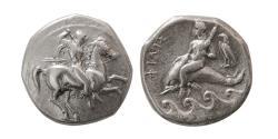 Ancient Coins - CALABRIA, Tarentum. Circa 332-302 BC. Silver Nomos.