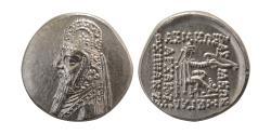Ancient Coins - PARTHIAN EMPIRE. Mithradates II. 123-88 BC. Silver Drachm.