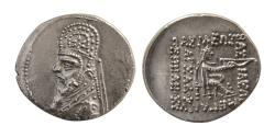 Ancient Coins - PARTHIAN EMPIRE. Mithradates III. Circa 87-79 BC. Silver Drachm.
