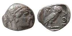 "Ancient Coins - ATTICA, Athens. 440-404 BC. Silver Tetradrachm.  Choice Superb ""As Struck"". Lustrous."