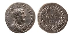 Ancient Coins - ROMAN EMPIRE; Domitian, as Caesar, AD. 69-81. AR Denarius. Rare. From Dr. Patrick Tan Collection.