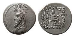 Ancient Coins - KINGS of PARTHIA. Sinatrukes. 93-69 BC. AR Drachm.