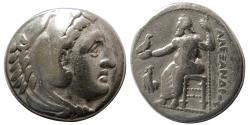 Ancient Coins - KINGS of MACEDON. Alexander III 'the Great'. 336-323 BC. AR Tetradrachm. Amphipolis mint.