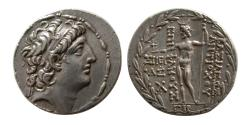 Ancient Coins - SELEUKID KINGDOM, Antiochos VIII Epiphanes. Sole reign, 121/0-97/6 BC. Silver Tetradrachm. Sidon.