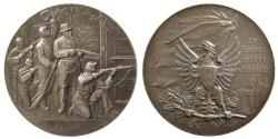 World Coins - SWITZERLAND. 1898. Shooting Festival Medal. Silver Medallion.