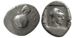 Ancient Coins - PAMPHYLIA, Side. Circa 490-400 BC. AR Stater.