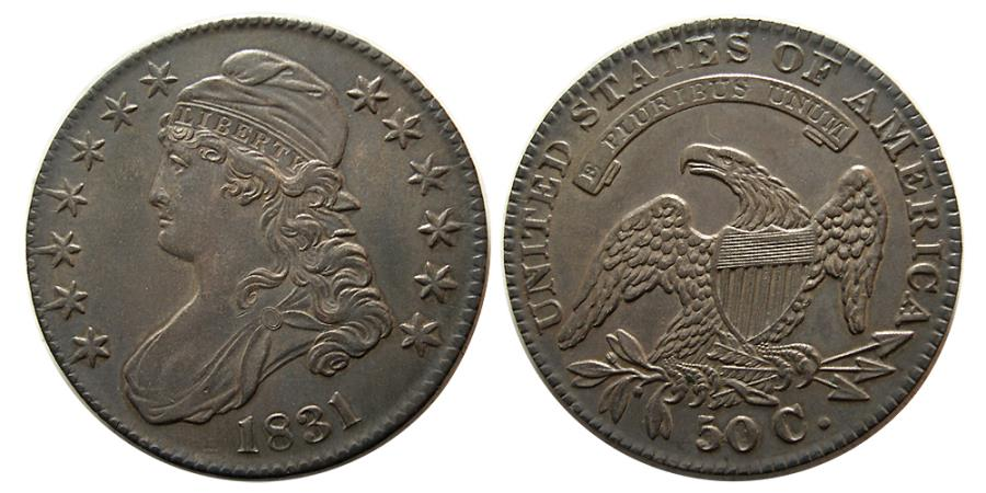 World Coins - UNITED STATES. 1831. 50 Cents. Classic Liberty Head.