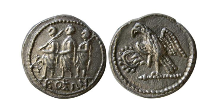 Ancient Coins - SCYTHIA, Geto-Dacians. Koson. Mid 1st century BC. AR Drachm