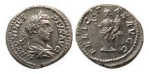 Ancient Coins - ROMAN EMPIRE. Caracalla. AD. 197-217. Silver Denarius. Lovely strike. Choice FDC.