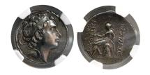 Ancient Coins - SELEUKID KINGDOM. Antiochus III. 222-187 BC. AR Tetradrachm. NGC-AU. Ex. Dr. Patrick Tan Collection.