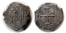 Ancient Coins - SPANISH COLONIAL, Carlos II. 1665-1700 AD. Silver 8 Reales. Potosi, 1691-2 dates.