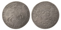 World Coins - NETHERLANDS, Overyssel. 1736 AD. Ducaton or Silver Rijder. Lovely strike.
