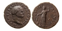 Ancient Coins - ROMAN EMPIRE. Vespasian. 69-79 AD. Æ As. Lovely strike.
