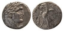 Ancient Coins - PHOENICIA, Tyre. 126 BC.-65 AD. AR Tetradrachm / Shekel. Dated (POZ) year 177= 51/52 C.E.