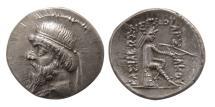 Ancient Coins - PARTHIAN EMPIRE. Mithradates I. 164-132 BC. AR Drachm.