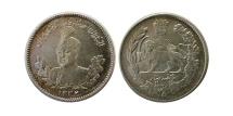 World Coins - PERSIA. Qajar Dynasty. Ahamad Shah. 1327-1344 H. Silver 500 Dinar . 1332 H.