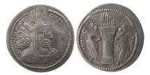 Ancient Coins - SASANIAN KINGS. Shahpur I. 240-272 AD. AR Drachm.