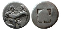 Ancient Coins - ISLANDS of THRACE, Thasos. Ca. 480-463 BC. AR Stater.