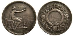 World Coins - SWITZERLAND. Shooting Festival Medal. ca. 19th. Century. Silver Medallion.