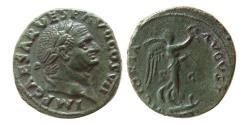 Ancient Coins - ROMAN EMPIRE. Titus. As Caesar, AD 69-79. Æ As. Lovely strike.