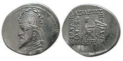 Ancient Coins - PARTHIAN KINGS. Sinatrukes. 93-69 BC. AR Drachm.