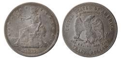 World Coins - UNITED STATES. 1877. Trade Dollar. San Francisco mint.