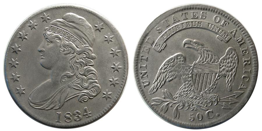 World Coins - UNITED STATES. 1834. 50 Cents.