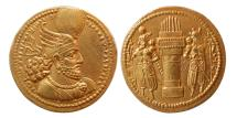 Ancient Coins - SASANIAN KINGS. Varhran (Bahram) II. AD 276-293. Gold Dinar. Great Style. FDC. Lustrous.
