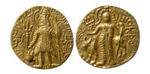 INDIA, Kushan Kings. Vasudeva II. Circa 290-310 AD. Gold Dinar.