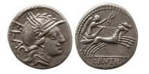 ROMAN REPUBLIC. L. Rutilius Flaccus. 77 BC. AR Denarius.