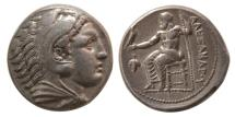 Ancient Coins - KINGS of MACEDON. Alexander III. 336-323 BC. AR Tetradrachm. Macedonia mint, lifetime issue.