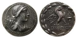 Ancient Coins - TROAS, Abydos. 175-75 BC. AR Tetradrachm. Dionysos, magistrate.