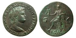 Ancient Coins - ROMAN EMPIRE. Nero. 54-68 AD. Æ Sestertius. Lovely strike. Wonderful example.