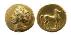 Ancient Coins - ZEUGITANIA, Carthage. Ca. 310-290 BC. Electrum Stater.
