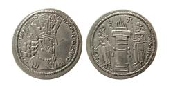 "Ancient Coins - SASANIAN KINGS. Shahpur II. AD. 309-379. Silver Drachm. Mint I (""Ctesiphon"")."