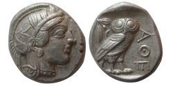 Ancient Coins - ATTICA, Athens. 440-404 BC. AR Tetradrachm. Full Crest.