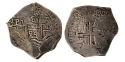 World Coins - BOLIVIA. Carlos II. 1665-1700. 8 Reals. Potosi mint. Dated 1694. Lovely strike.