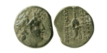 Ancient Coins - SELEUKID KINGDOM. Diodotos Tryphon. Ca. 142-138 BC. Æ 17mm.