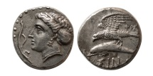 Ancient Coins - PAPHLAGONIA, Sinope. Ca. 330-300 B.C. AR drachm.