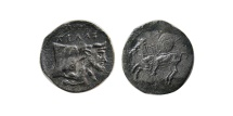 Ancient Coins - SICILY, Gela. Circa 430-425 BC. AR Litra.