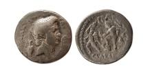 Ancient Coins - ROMAN EMPIRE. Sextus Pompey. 42-40 BC. AR Denarius. Rare.