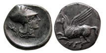 Ancient Coins - ACARNANIA. Anaktorion. Ca. 320-280 BC. AR Stater.