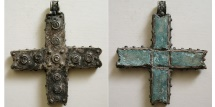 Ancient Coins - BYZANTINE Silver Cross. Ca. 8th-10th Century AD. Very Rare.